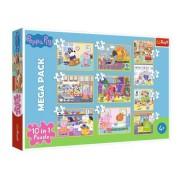 Puzzle Trefl 10 in 1, Peppa Pig cu prietenii, 329 piese