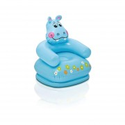 Sillón Inflable Infantil Hipopotamo Azul 65x64x74cm Intex