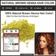 Pure Natural Organic Dark Brown Hair Color - 100 Grams