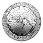 Kangaroo Investiční stříbro stříbrná mince 1 AUD Australian Klokan rudý 1 Oz 2016