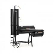 Monstertruck Smoker Grill BBQ rookoven staal zwart