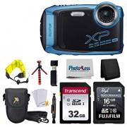 Fujifilm FinePix XP140 Digital Camera (Sky Blue) + 48GB SD Card + Floating Strap + Cleaning System + 12 Flexible Tripod + Screen Protectors + SD Card Reader + Memory Card Wallet + Camera Case