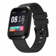 Ceas Smartwatch ZEBLAZE Crystal 2 Bluetooth waterproof cu touchscreen si fitness tracker pentru Android si iOS negru