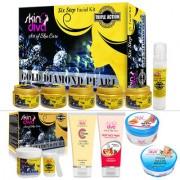 Skin Diva Triple Action Facial Kit Combo With Bleach Face Wash CC Creame Hand Foot Spa Cream Scrub-C504