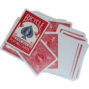 Double Back Bicycle Bridge Card Red - Red