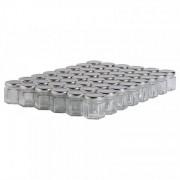Lubéron Apiculture 48 pots verre hexagonaux 50g (47 ml) avec couvercle TO 43 - Couvercle - Argenté