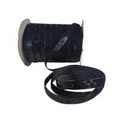 De-Ultimate Multi-Purpose Black Glitter Ribbon for Party Decoration Gift Box Wrapping Art and Crafts With 18 Meter Roll