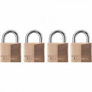 Master Lock Brass Padlocks - 4-Pk, Keyed Alike, Model 140Q