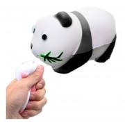 Simulación Panda Forma Squishy Lento Aumento De Toy Lento Repunte PU Mitigador De La Tension Squeeze Toy (negro)