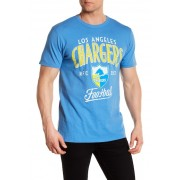 JUNKFOOD Los Angeles Chargers Kick Off Tee BLUBERRY