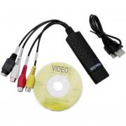ER Negro USB Tarjeta De Captura De Vídeo 2.0 Adaptador Convertidor PC TV Audio De DVD DVR VHS.