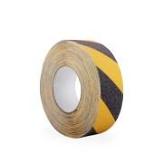 Černo-žlutá korundová protiskluzová páska 01 - délka 18,3 m a šířka 5 cm
