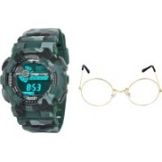 Stuffy club Round Sunglass, Digital Watch Combo(Multicolor)