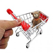 Mini Shopping Cart Supermarket Handcart Mini Shopping Cart Mini RALMALL Supermarket Storage Toy (Red)