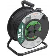 Prelungitor pe tambur 25 m, cablu 3x1.5 mm, H05RR-F3G1,5, IP44 Meister OutDoor,