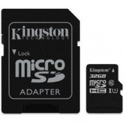 Card de memorie Kingston MicroSDHC 32GB Canvas Select 80R Class 10 UHS-I si Adaptor
