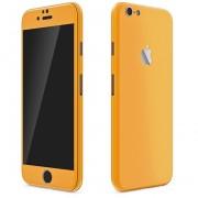 Apple iPhone 6 Plus / 6s Plus FoliaTa Skin Kit Carbon Fata / Spate, Orange