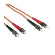 C2G 1m ST/ST LSZH Duplex 62.5/125 Multimode Fibre Patch Cable 1m Orange networking cable