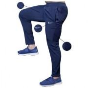 Nike Navy Polyester Lycra Stylish Trackpant