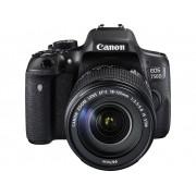 Digitale spiegelreflexcamera Canon EOS 750D Incl. EF-S 18-135 mm IS STM lens 24.2 Mpix Zwart Flitsschoen, Draai- en zwenkbare display, Elektronische zoeker,