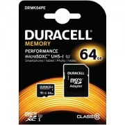 Duracell 64GB microSDXC UHS-I geheugenkaart incl SD adapter (DRMK64PE)