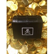 Pirate's Treasure Chest - Filled with 50 Large Gold Chocolate Coins