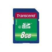 Transcend - Carte mémoire flash - 8 Go - Class 4 - SDHC