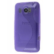 HTC Titan II 4G Wave Case - HTC Soft Cover (Frosted Purple/Purple)