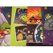 Angry Birds Space 4 Folder Set (Picture Postcards on Green, Space Birds vs. Green Pig, Ice Bird Attacks!, Crystalized)