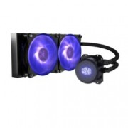 Водно охлаждане за процесор Cooler Master MasterLiquid ML240L RGB, съвместимост с Intel LGA 2066/2011-3/2011/1366/1156/1155/1151/1150/775 & AMD AM4/AM3(+)/AM2(+)/FM2(+)/FM1, 2000 rpm