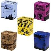Deluxe Durable Plastic Big Box Oversize Card Deck Boxes - Includes Set of 5 Different Boxes!