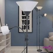 vidaXL Podna svjetiljka crna