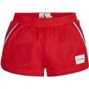 Calvin Klein Jeans! Meisjes Korte Broek - Maat 128 - Rood - Polyester