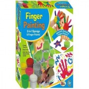 SHRIBOSSJI EKTA FINGER PAINTING ART AND CRAFT SET FOR KIDS FUN BOARD GAME (MULTICOLOR)
