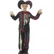 Vegaoo.es Disfraz esqueleto bufón niño Halloween - 4-6 años (115/128 cm)