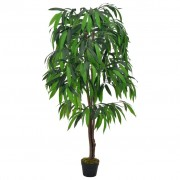 vidaXL Sztuczne drzewko mango z doniczką, zielony, 140 cm
