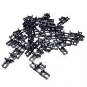 Lego Parts: Technic - Bulldozer Chain Link Treads (Service Pack of 28 - Black)