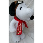Peanuts Snoopy Flying Ace Pilot Plush Holiday Greeter