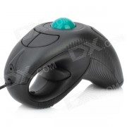 Handheld USB con cable 800/1000 DPI Trackball Mouse - Negro