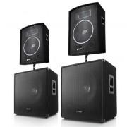 Skytec DJ PA парти комплект 1000 W система с тонколони & кабели (2.2-2200-Watt)