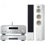 Yamaha Zestaw stereo R-N602 + CD-S300 + NS-F350 Biały