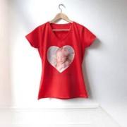 smartphoto Frauen T-Shirt Korallenblau Rückseite S