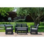 TARIFA 4 személyes kerti bútor szett, szürke