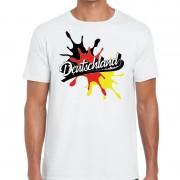 Bellatio Decorations Deutschland/Duitsland t-shirt spetter wit voor heren
