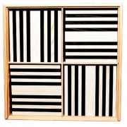 Kapla 100 Piece Wooden Plank Set Black and White KAPL172127