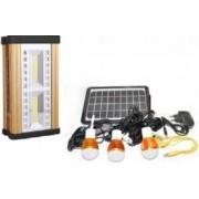 Kit Proiector cu Incarcare Solara si Iluminare cu 2 LED COB 8 LED SMD si 3 becuri LED