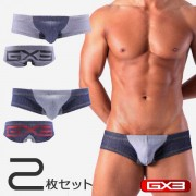 GX3 [2 Pack] DX Super Low Rise Boxer Brief Underwear Denim K113
