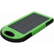 PowerBank baterie externa portabila cu incarcare solara 5 000mAh 2x USB si lanterna incorporata