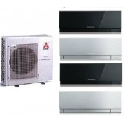 Mitsubishi Electric Kit Quadri Mxz-4d/e72va + 3 X Msz-Ef25ve2-W/b/s + Msz-Ef42ve2-W/b/s 9+9+9+15