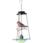 Wonderland Hanging metal bird with glass base chime (Home Decor garden gift Gifting)